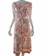 Epilogue Womenand039s Dress Size 14 42 White Flowers Floral Viscose