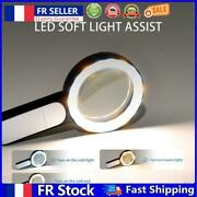 Lighted Magnifying Glass 30x Handheld Reading Magnifier Loupe W/18led Light