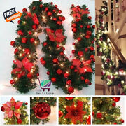6 Colors 2.7m Luxury Christmas Decorations Garland Decoration Rattan With Lights