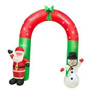 Christmas Decorations Inflatable Santa Claus Snowman With Led Lights - Arch