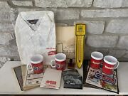 Vintage Rare Agriculture Farm Machinery Advertising Lot Thermometer Cups Shirt +