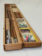 Vintage White Bear Bamboo Fly Fishing Rod Set, Japan, With 3 Tips Rare Antique