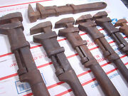 Vintage Wrench Lot J. H. Williams Railroad Special Wandb 18 Adjustable Spanner