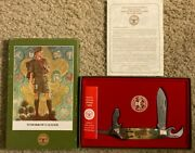 Boy Scout Norman Rockwell Knife Tomorrow's Leader Limited Edition In Box - New