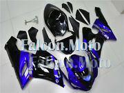 New Blue Black Abs Injection Plastic Kit Fairing Fit For 2005-2006 Zx-6r 636 Iau
