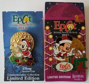 Mickey And Duffy Pins Holidays Around The World 2012 Dvc 2013 Disney Lot Of 2 New