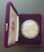 1986 S American Silver Eagle Proof Coin With Original Boxes And Coa