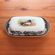 Spode Woodland Covered Butter Dish