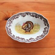 Spode Woodland Oval Fluted Dish 6 Turkey Thanksgiving