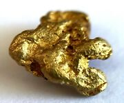 Yellow Gold Natural Nugget 98.76 Au Purity As Per Xrf Spectrometer Test 1.13gr