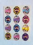 Vintage Lisa Frank Sticker Sheet S116 Pianos With Musical Notes