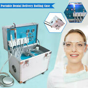 Dental Mobile Delivery Unit Rolling Box W/led Curing Light+ Ultrasonic Scaler