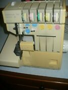 Pfaff Hobbylock 797 Serger Electronic Machine Crafts Sewing W/ Pedal And Diagram