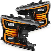 For Ford F150 2018-up Headlights Led Headlamps Front Factory Style Left + Right