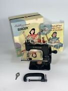 Vintage Singer Red S French Sewhandy Model 20 Toy Sewing Machine Made In France