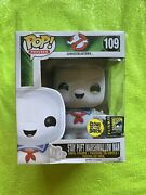 Ghostbusters Sdcc Glow In The Dark Stay Puft Marshmallow Man Funko Pop