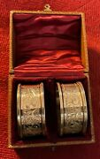 Antique Pair Of Chester Silver Napkin Rings, J And R Griffin 1909
