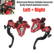 Aluminum Motorcycle Master Cylinder Reservoir Brake Clutch Hydraulic Levers 10mm