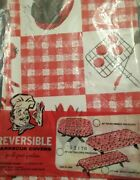 Vintage Vinyl Picnic Table Tablecloth Barbecue Cook Out Bbq Kitsch Retro Read