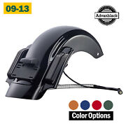 Color Matched Cvo Style Rear Fender System Fits Harley Davidson Touring 09-13