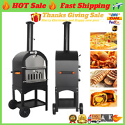 ✅13 Inch Outdoor Pizza Oven 13 Portable Wood Fired Machine Charcoal Bbq Firewood