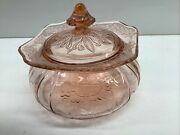Jeanette Adam Pink Depression Glass - Candy Dish