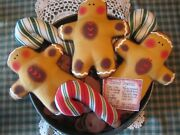 Primitive Gingerbread And Candy 1 Bowl Fillers, Ornaments, Dolls, Shelf Sitters