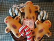 Primitive Gingerbread And Candy 2 Bowl Fillers, Ornaments, Dolls, Shelf Sitters