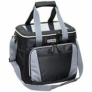Solar Cooler With Usb Charging System, Collapsible 36 Can Cooler Bag