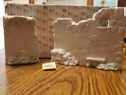 Euc Vintage Precious Moments Two Section Wall For Nativity E-5644 With Box