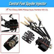 Portable Central Fuel Spyder Injector W/ Bracket For Chevy Gmc Pickup 4.3l Parts