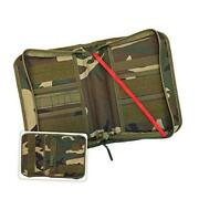 Military Style Medium Bible Cover And Organizer For Men - Woodland Camouflage