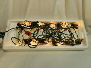 2 Sets Vintage 10 Candle Accent Christmas Tree Lights Clip On String Set Working