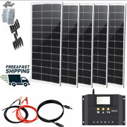 Solar Panel Kit 5pc/100w With Controller Outdoor Camping Rv Battery Charger Gift