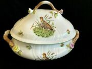 Herend Porcelain Handpaited Hunter Trophies Xxl Large Soup Tureen 1002/chtw