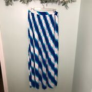 Lilly Pulitzer Long Maxi Skirt Tucker Career Casual 14 Polyester Pleats Luxury R