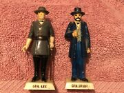 Marx 60mm Warriors Of The World Generals Robert E. Lee And Ulysses S.grant Painted