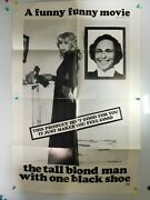 Vtg Original The Tall Blond Man With One Black Shoe Movie Poster 27 X 41 Folded