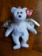 Rare 2000 Halo Ii Bear, Ty Beanie Baby 4269, Mint W/ Brown Nose And 5 Errors