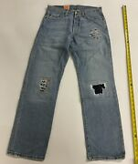 Leviand039s 501 Irregular Straight Leg Button Fly Blue Jeans 32 X 30 New With Tags