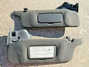 94-04 Ford Mustang Convertible Sun Visors Gray Lh And Rh Both Sides Tested W Clips