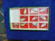 10 Swimmin Minnow Fishing Lures By Tackle Industries,sheveport,la, Nos