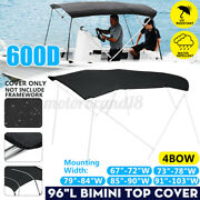 Us 4 Bow Bimini Top Boat Replacement Canvas Cover No Frame 600d Uv Resistant