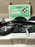 Vintage Dymo 1550 Tapewriter Label Maker In Case With Letter Wheels And Tape