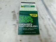 Vtg Pearl Drops Smokers Tooth Polish Advertisement Matchbook Cover Used