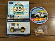 Hot Wheels 35th La. Convention Land Rover Defender With Sticker Patch And Pin