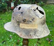 Ww1 German M16 Steel Helmet Relicex French Museum Somme All Original