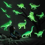 Glow In The Dark Stickers Luminous Wall Decals Ceiling Decor For Boys Dinosaur