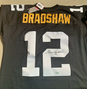Terry Bradshaw Pittsburgh Steelers Signed Mitchell And Nessandreg Jersey Autographed