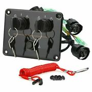 Diy 12v Oem Dual Key Ignition Twin Switch Panel For Yamaha Outboard Motor Yachts